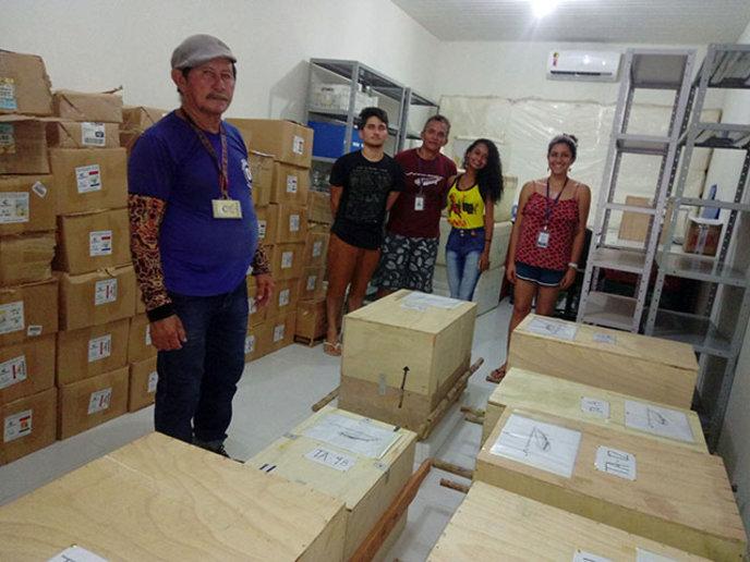 Parte da equipe responsável pelo transporte dos artefatos arqueológicos - crédito Anne Rapp Py-Daniel