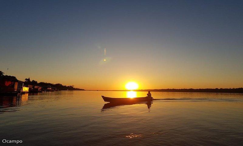 Foto: Ocampo Fernandes. O nascer do Sol no Distrito de São Carlos! Porto Velho - Rondônia.
