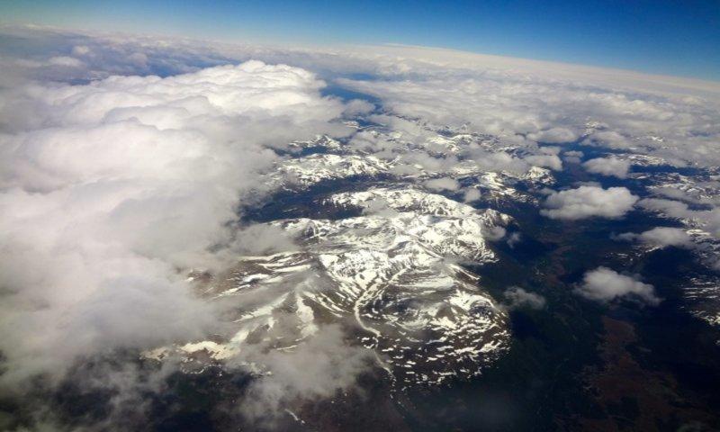 Vista aérea da Cordilheira dos Andes (Foto: Viriato Moura)