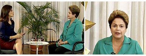 No Jornal da Record: Dilma diz que 'mercado vai acalmar' e propõe diálogo