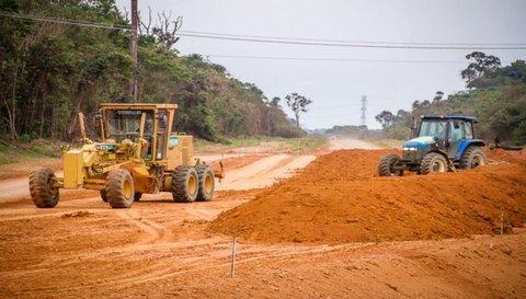 Asfaltamento da Estrada da Penal, em Porto Velho, facilitará o escoamento da produção de pequenos agricultores da região