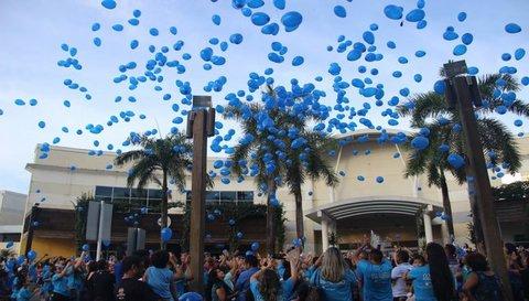 Soltura de balões no Porto Velho Shopping será dia 2 em prol dos autistas