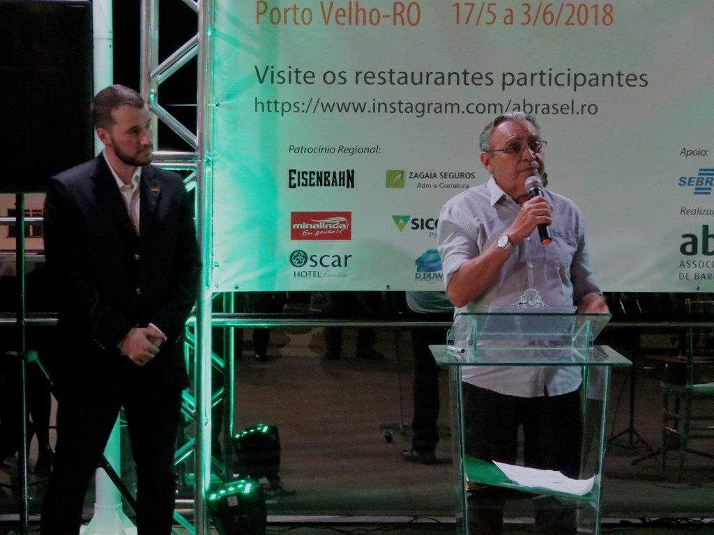 Hildon Pereira, superintendente do SENAC - um dos parceiros da Abrasvel - destaca a importância do Festival para incrementar o turismo na capital - Gente de Opinião