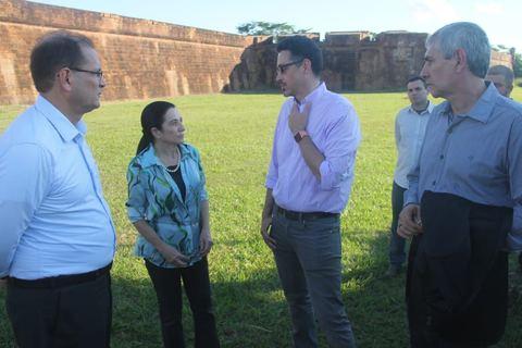 Ministro da Cultura visita Rondônia e conhece o Forte Príncipe da Beira