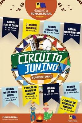 Circuito Junino começa sexta  com Arraial Flor de Cacto