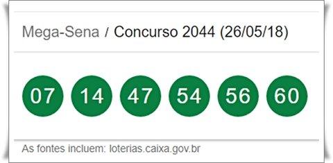 Mega-Sena concurso 2044: acumulou! Prêmio vai a R$ 30 milhões