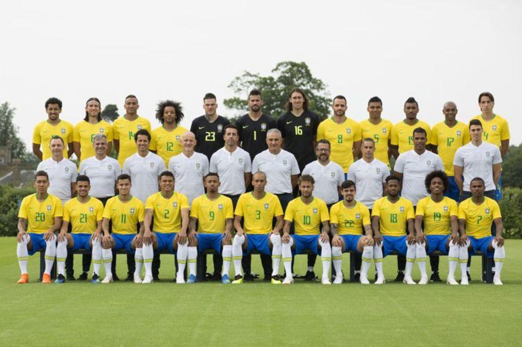 Foto oficial da seleção brasileira para a Copa do Mundo na Rússia - Lucas Figueiredo/CBF/Direitos Reservados - Gente de Opinião