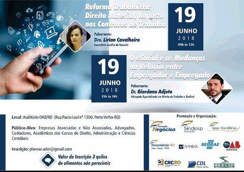 Fenavist e Sindespe, em parceria com a Fecomécio-RO, realizam encontro sobre  eSocial e Reforma Trabalhista