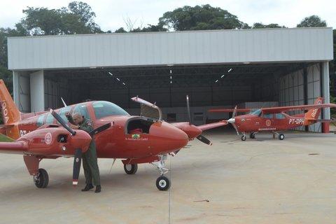 Grupamento de Operações Aéreas inaugura base em Porto Velho; o quarto avião veio dos Estados Unido