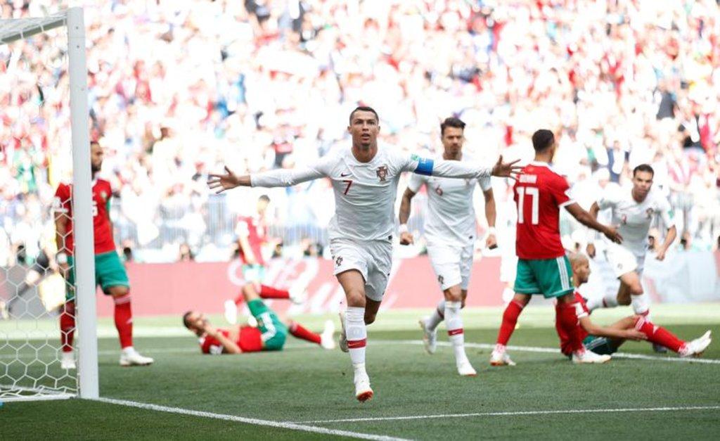 Cristiano Ronaldo comemora o gol marcado contra Marrocos (Carl Recine/Reuters/Direitos Reservados) - Gente de Opinião