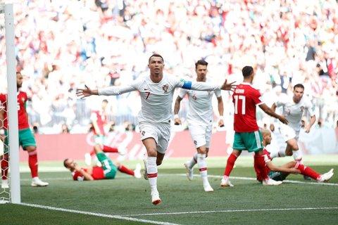 Portugal abre placar contra o Marrocos com 4 minutos