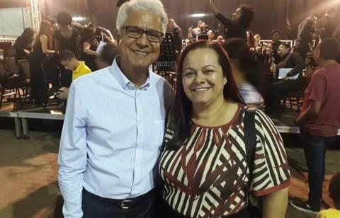 Claudia Moura prestigia orquestra Harmonia Celeste na zona leste de Porto Velho