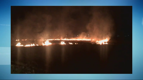 Fogo em mata pode ter causado incêndio no pátio da Sesdec (VÍDEO)