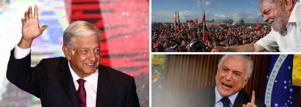 No México, democracia elege seu Lula; no Brasil do golpe, Lula preso  - Gente de Opinião