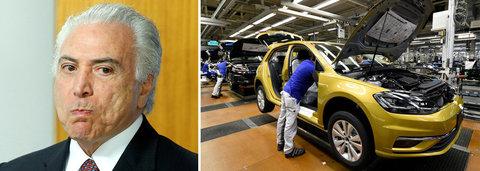 Crise de Temer faz Volkswagen dar férias coletivas