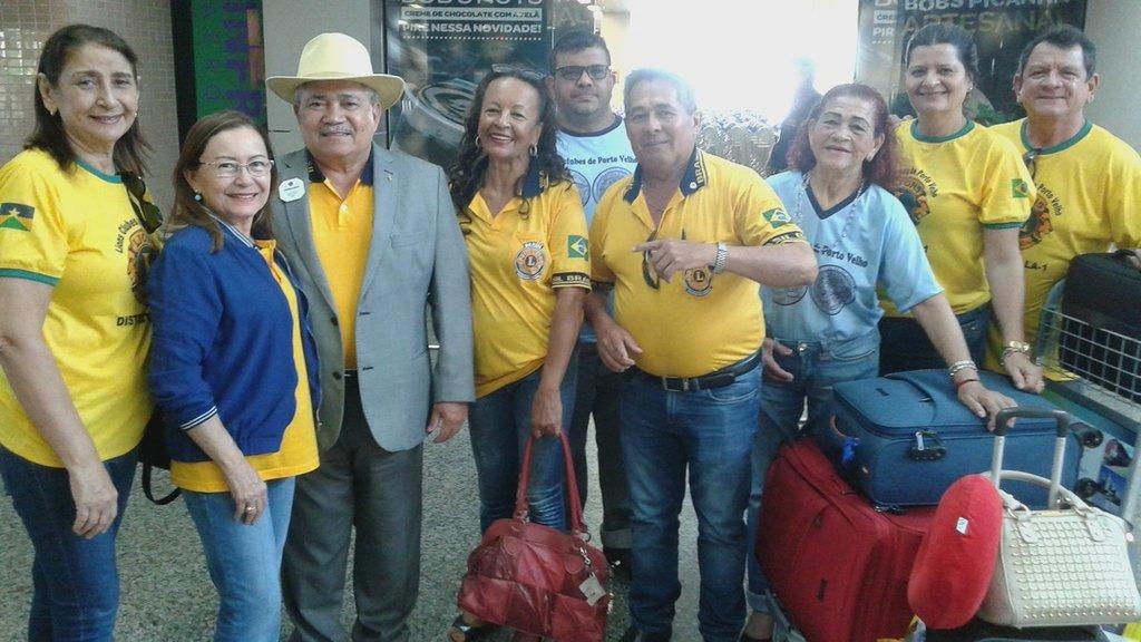 Geravasio no aeroporto com a esposa (Companheira Leão) e Companheiros de Porto Velho: missão cumprida - Gente de Opinião