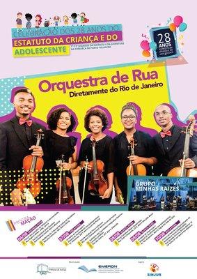 Orquestra de Rua é atração nas comemorações de 28 anos do ECA