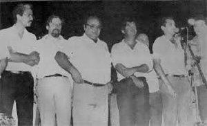 A partir da esquerda: Orestes Muniz, Amir Lando, Jerônimo Santana, José Guedes e Tomas Correia (Foto Google) - Gente de Opinião