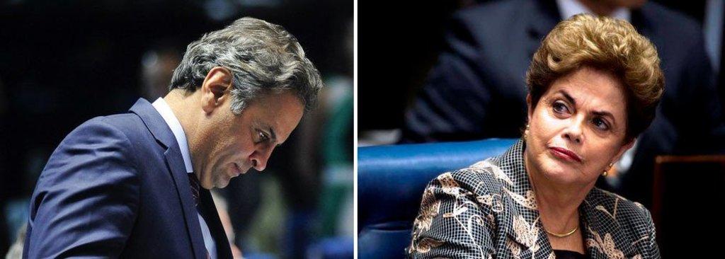 Líder do golpe, Aécio desiste do Senado... - Gente de Opinião
