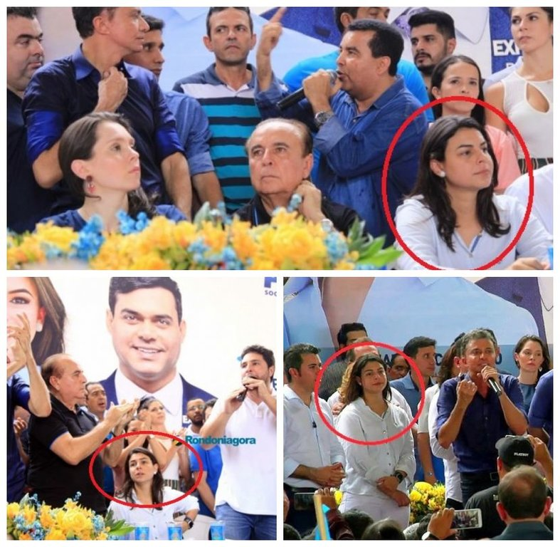 Mariana demonstra desconforto (Fotos Rondoniagora e O Observador/Montagem Banzeiros) - Gente de Opinião