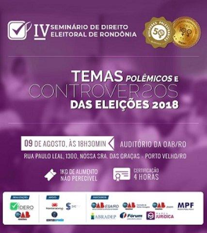 Confira ao vivo o TV Seminário de Direito Eleitoral de Rondônia - Gente de Opinião