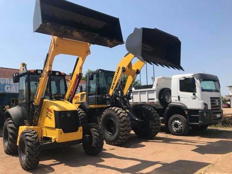 Lindomar Garçon destina equipamentos pesados para Candeias do Jamari