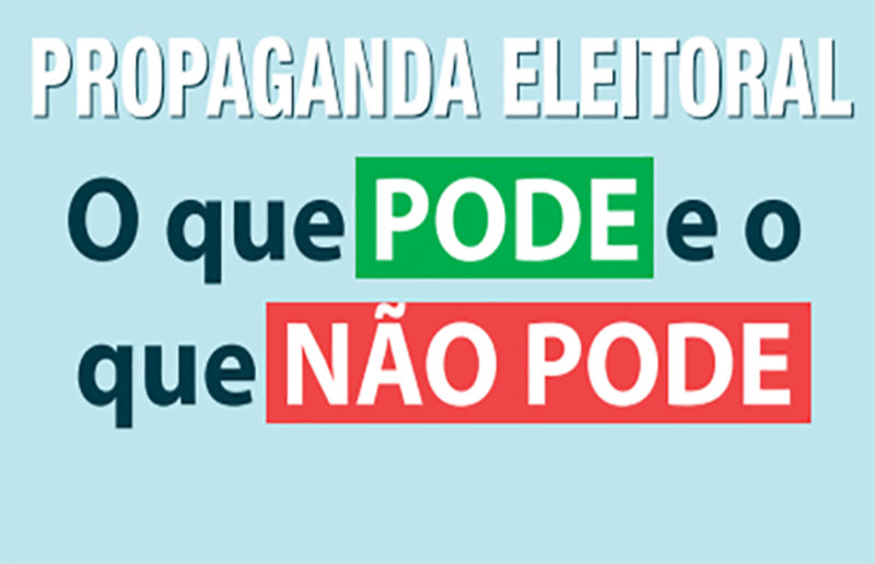 Propaganda eleitora autorizadas apartir desta quinta-feira (16)