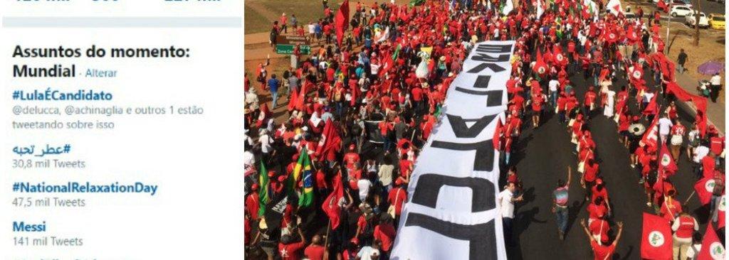 #LulaÉCandidato lidera trending topic mundial no Twitter  - Gente de Opinião