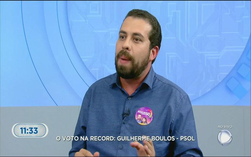 Boulos é o entrevistado da Record TV (VÍDEO)