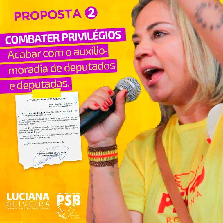 Luciana Oliveira é a primeira candidata a deputada estadual a propor extinção do auxílio-moradia para membros do Legislativo - Gente de Opinião
