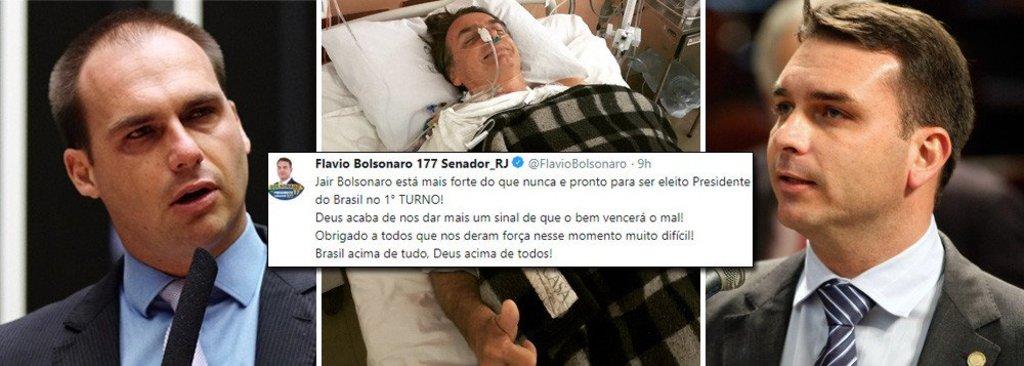 Após ataque, filhos de Bolsonaro já falam em vitória no primeiro turno - Gente de Opinião