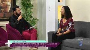 Aberta as inscrições para o 4º Festival da UNIR (VÍDEO) - Gente de Opinião