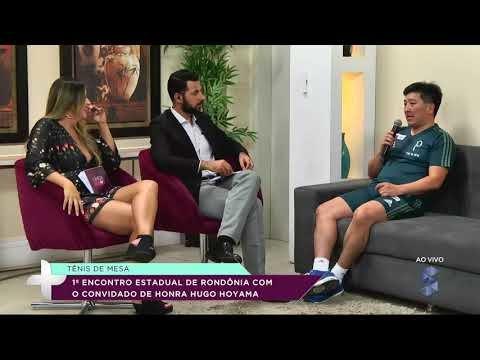 Hugo Hoyama participa do 1º Encontro Estadual  de Tênis de Mesa em RO (VÍDEO)