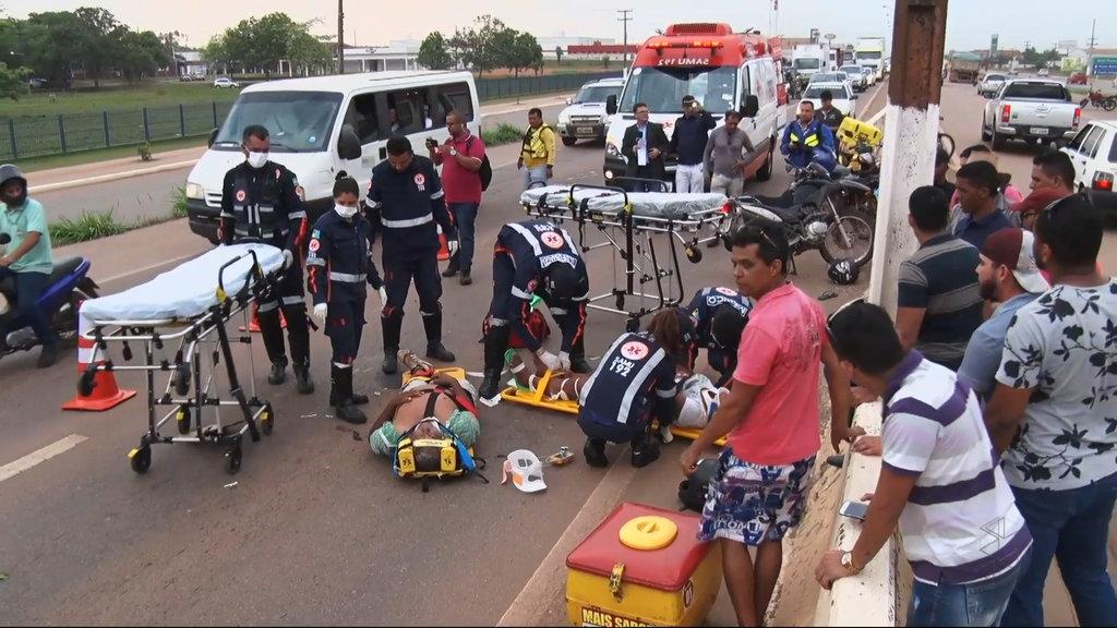 Colisão entre motocicletas na BR 364, em Porto Velho - Gente de Opinião