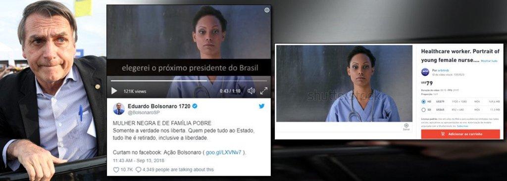 'Mulher negra e pobre' usada em campanha de Bolsonaro é modelo estrangeira de banco de imagens  - Gente de Opinião