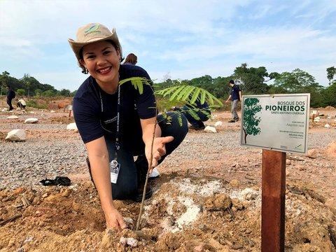 Hidrelétrica Santo Antônio comemora o Dia da Árvore com criação de bosque