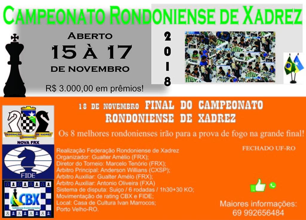 Campeonato Rondoniense de Xadrez - Gente de Opinião