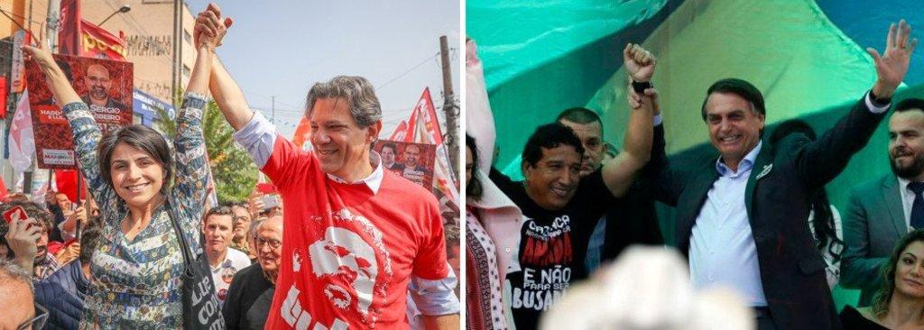 Ibope: Haddad cresce 3 pontos e vai a 22%; Bolsonaro estaciona - Gente de Opinião