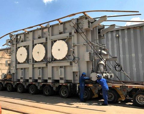 Novos transformadores asseguram o fornecimento de energia pela Hidrelétrica Santo Antônio