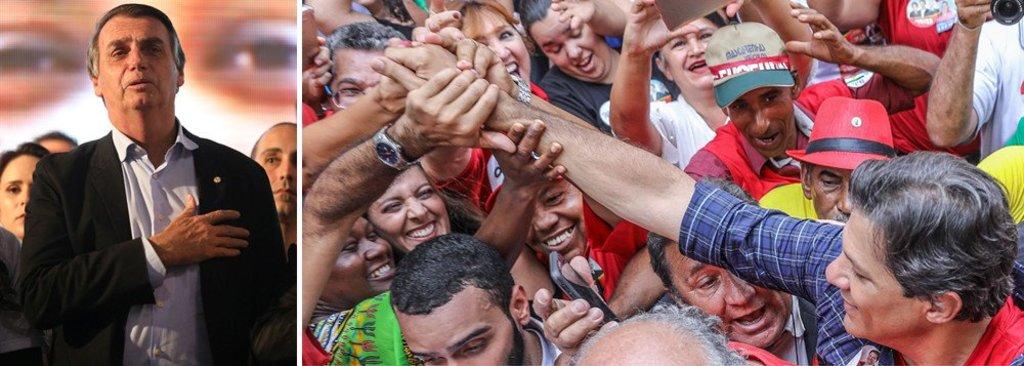 Pesquisa do mercado: segundo turno tem empate entre Haddad e Bolsonaro - Gente de Opinião