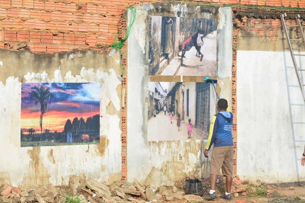 As fotos são da I Mostra a Céu Aberto realizada no ano passado na rua Euclides da Cunha - Gente de Opinião