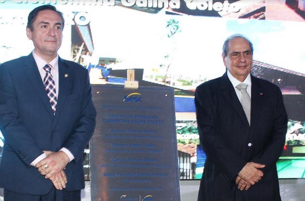 Presidente eleito da CNC presigiou a inauguração do maior centro de atividades do Sesc de Rondônia - Gente de Opinião