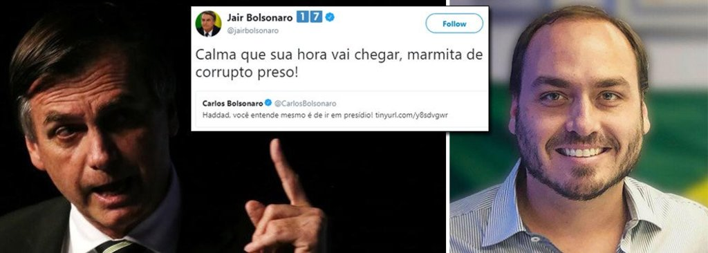Bolsonaro e filho fazem ameaça pública a Haddad - Gente de Opinião