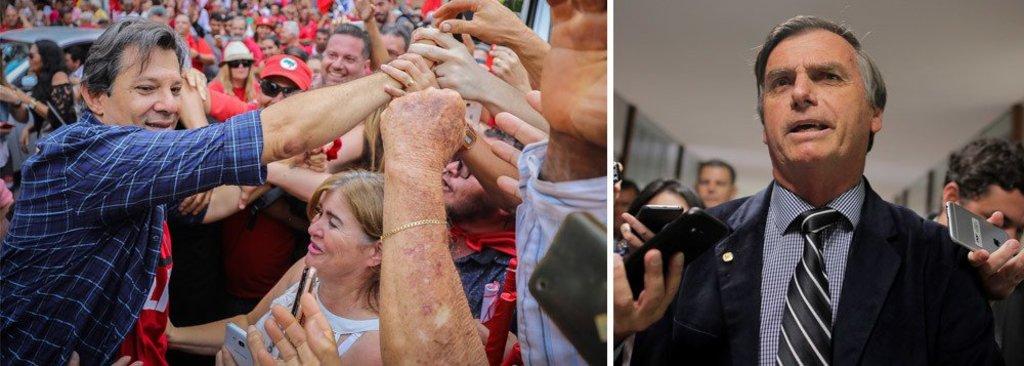 Pesquisa mostra Bolsonaro com 54% e Haddad com 46% - Gente de Opinião