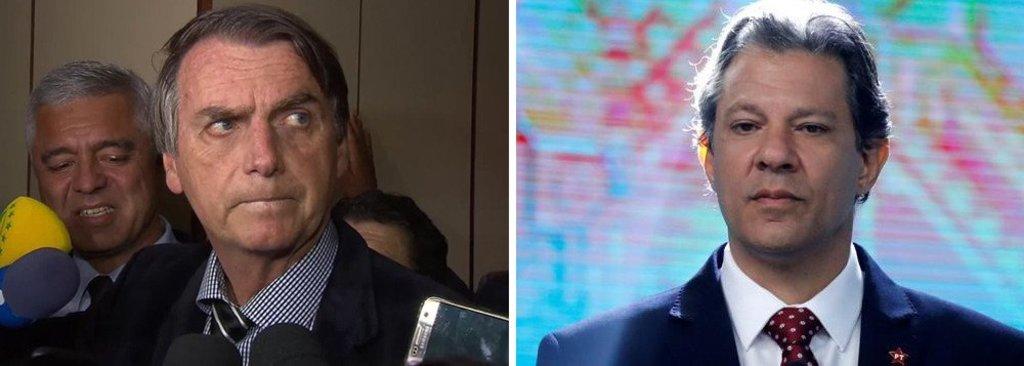 Datafolha: Bolsonaro 58% e Haddad 42%  - Gente de Opinião