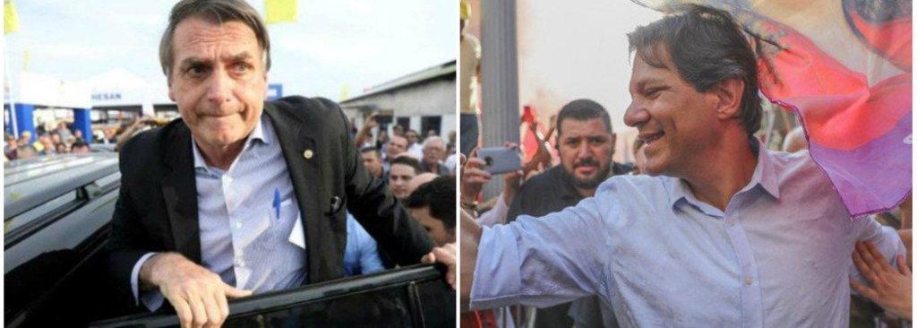Pesquisa do mercado mostra Bolsonaro com 59% e Haddad com 41%  - Gente de Opinião