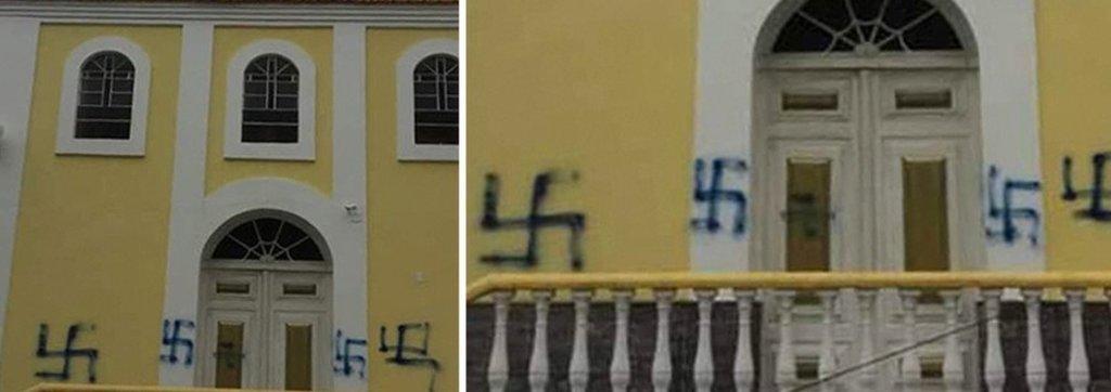 Capela católica mais antiga de Nova Friburgo é pichada com suástica nazista - Gente de Opinião