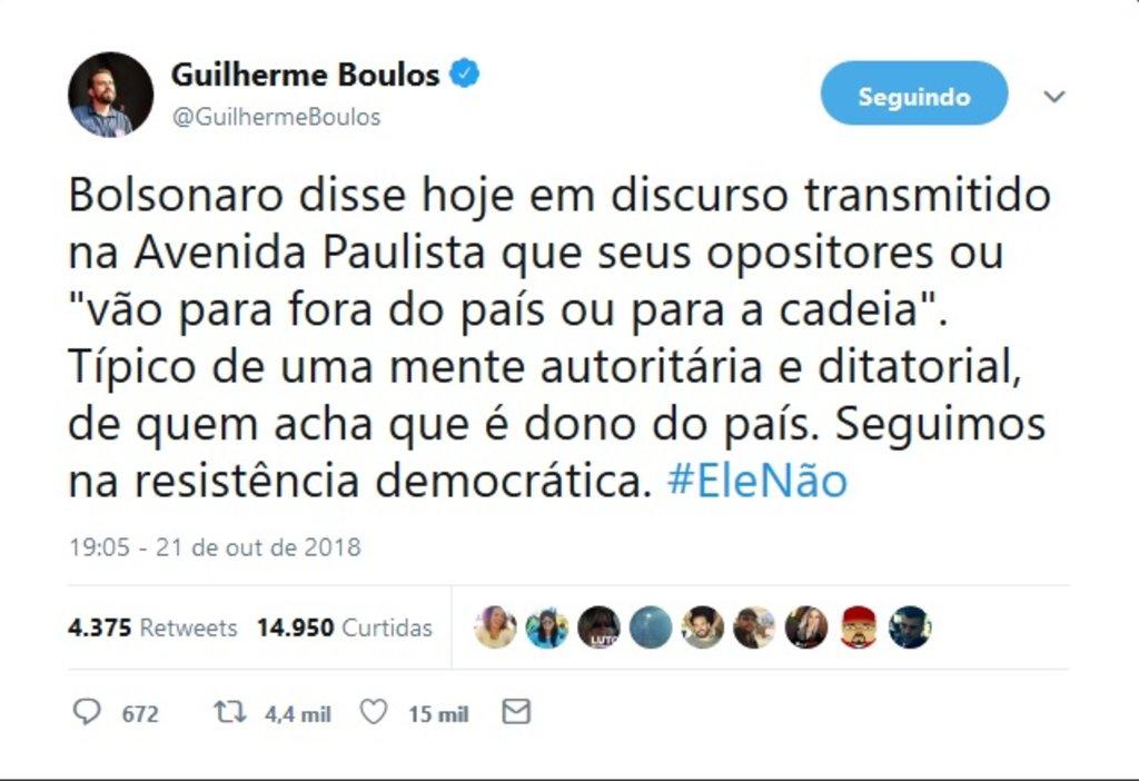 Bolsonaro ameaça seus opositores: ou vão para fora ou serão presos - Gente de Opinião