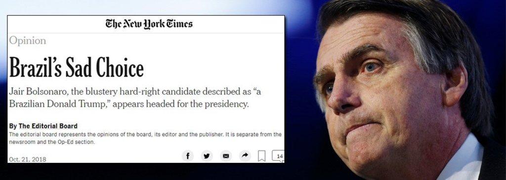 The New York Times sobre Bolsonaro: 'repulsivo'  - Gente de Opinião
