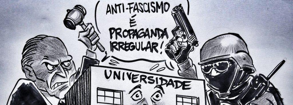 Latuff retrata a ofensiva contra as universidades - Gente de Opinião